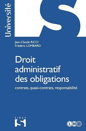 Téléchargez le livre :  Droit administratif des obligations