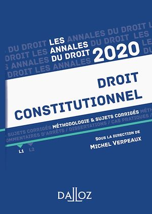 Téléchargez le livre :  Annales Droit constitutionnel 2020