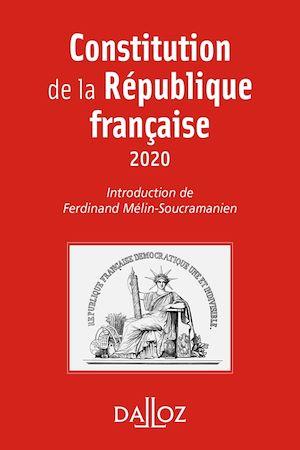 Téléchargez le livre :  Constitution de la République française. 2020 - 17e éd.