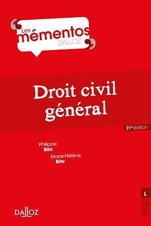 Téléchargez le livre :  Droit civil général - 21e éd.