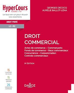 Téléchargez le livre :  Droit commercial - 9e ed.