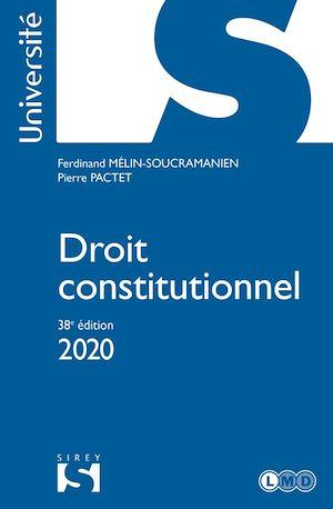 Téléchargez le livre :  Droit constitutionnel 2020 - 38e éd.