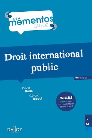 Téléchargez le livre :  Droit international public - 25e éd.