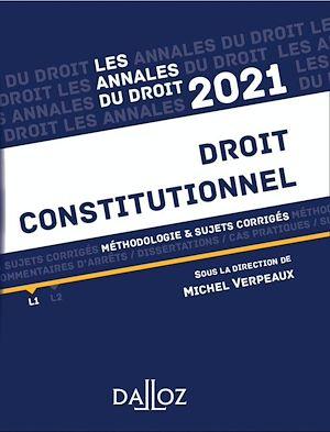 Téléchargez le livre :  Annales Droit constitutionnel 2021