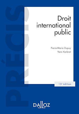 Téléchargez le livre :  Droit international public - 15e ed.