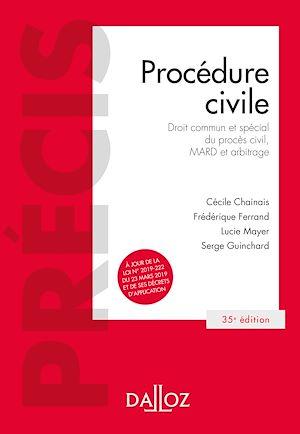 Téléchargez le livre :  Procédure civile - 35e ed.