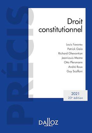Téléchargez le livre :  Droit constitutionnel 2021 - 23e ed.