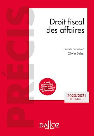 Téléchargez le livre :  Droit fiscal des affaires 2020-2021 - 19e ed.