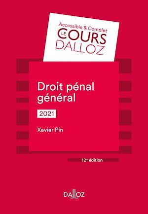 Téléchargez le livre :  Droit pénal général 2021 - 12e ed.