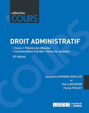 Téléchargez le livre :  Droit administratif - 15e édition
