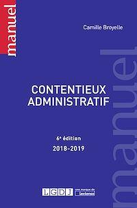 Télécharger le livre : Contentieux administratif 2018-2019 - 6e édition