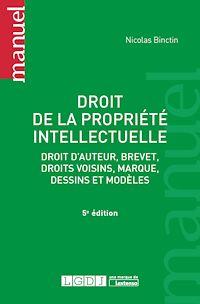 Télécharger le livre : Droit de la propriété intellectuelle - 5e édition