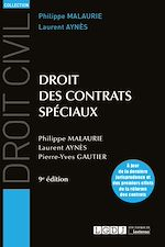 Télécharger le livre :  Droit des contrats spéciaux - 9ème édition