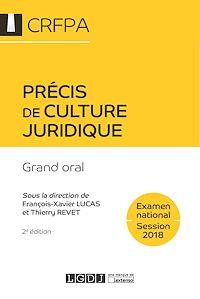 Téléchargez le livre :  Précis de culture juridique 2018 - 2e édition