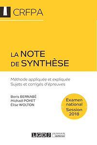 Télécharger le livre : La note de synthèse 2018 - 7e édition
