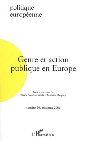 Téléchargez le livre :  Genre et action publique en Europe