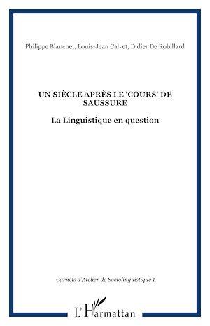 """Téléchargez le livre :  Un siècle après le """"Cours"""" de Saussure"""