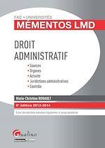 Télécharger le livre :  Droit administratif 2013-2014 - 9e édition