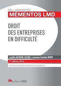 Télécharger le livre : Droit des entreprises en difficulté 2018 - 1e édition