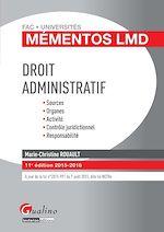 Télécharger le livre :  Mémentos LMD - Droit administratif - 11e édition 2015-2016