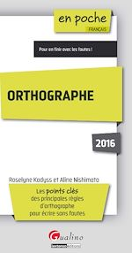 Télécharger cet ebook : En poche - Orthographe 2016
