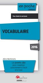Télécharger cet ebook : En poche - Vocabulaire 2016