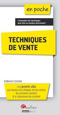 Télécharger le livre : En poche - Techniques de vente