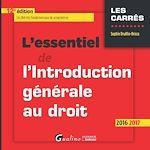 Télécharger le livre :  L'essentiel de l'introduction générale au droit - 12e édition 2016-2017
