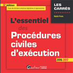 Télécharger le livre :  L'essentiel des procédures civiles d'exécution 2016-2017 - 6e édition