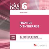 Télécharger le livre : Les Carrés DCG 6 - Finance d'entreprise - 6e édition 2016-2017