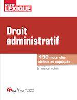 Télécharger le livre :  Droit administratif - 2e édition
