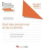 Télécharger le livre :  Droit des personnes et de la famille 2016-2017 - Licence 1 - Semestre 2
