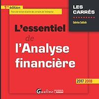 Télécharger le livre : L'essentiel de l'analyse financière 2017-2018 - 1e édition