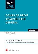 Télécharger le livre :  Amphi LMD - Cours de droit administratif général 2017-2018 - 1e édition