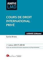 Télécharger le livre :  Amphi LMD - Cours de droit international privé 2017-2018 - 1e édition