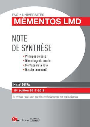 Téléchargez le livre :  Mémentos LMD - Note de synthèse 2017-2018 - 15e édition