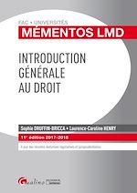 Télécharger le livre :  Mémentos LMD - Introduction générale au droit 2017-2018 - 11e édition
