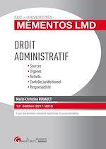 Télécharger le livre :  Mémentos LMD - Droit administratif 2017-2018 - 13e édition