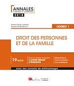 Télécharger le livre :  Droit des personnes et de la famille 2018 - L1 - 2e édition