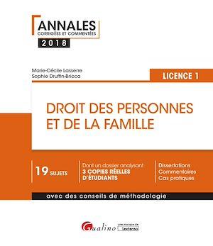 Téléchargez le livre :  Droit des personnes et de la famille 2018 - L1 - 2e édition