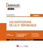 Télécharger le livre :  Les institutions de la Ve République 2018 - L1-S2