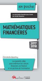 Télécharger le livre :  En poche - Mathématiques financières 2017-2018 - 4e édition
