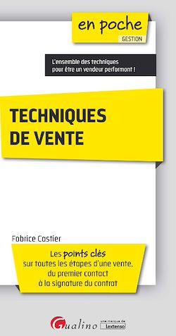 Téléchargez le livre :  En poche - Techniques de vente 2017-2018 - 2e édition