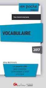 Télécharger le livre :  Vocabulaire 2017 - 5e edition