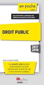 Télécharger le livre :  Droit public 2017-2018 - 4e édition