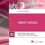 Télécharger le livre :  Les Carrés DCG 3 - Droit social 2017-2018 - 8e édition