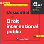 Télécharger le livre :  L'essentiel du droit international public 2017-2018 - 8e édition