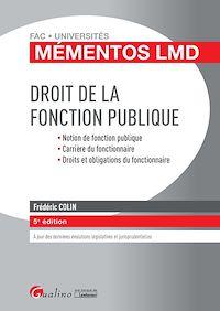 Télécharger le livre : Droit de la fonction publique - 5e édition