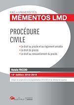 Télécharger le livre :  Mémentos LMD - Procédure civile - 15e édition