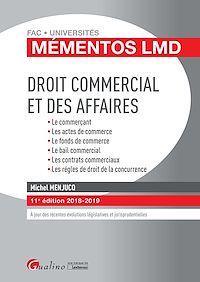 Télécharger le livre : Mémentos LMD - Droit commercial et des affaires - 11e édition